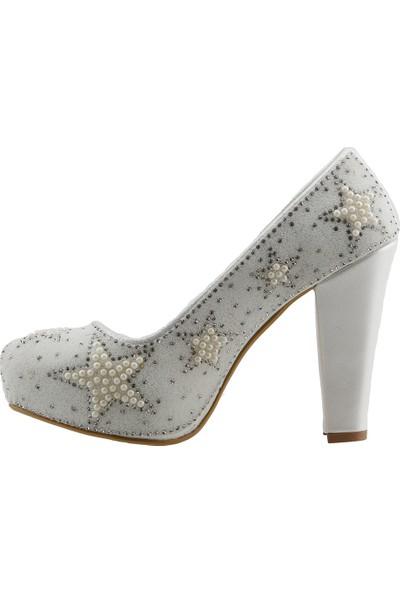 Ceylan 19 Platform 11 cm Topuk Abiye Gelin Kadın Ayakkabı