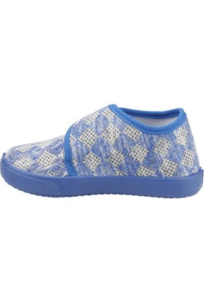 Sanbe 106P124 Okul Kreş Kız / Erkek Çocuk Çocuk Keten Panduf Ayakkabı
