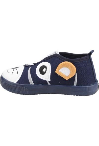 Sanbe 106P107 Okul Kreş Kız / Erkek Çocuk Çocuk Keten Panduf Ayakkabı