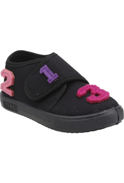 Sanbe 106P104 Okul Kreş Kız / Erkek Çocuk Çocuk Keten Panduf Ayakkabı