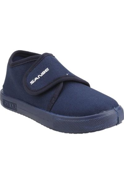 Sanbe 106P102 Okul Kreş Kız / Erkek Çocuk Çocuk Keten Panduf Ayakkabı