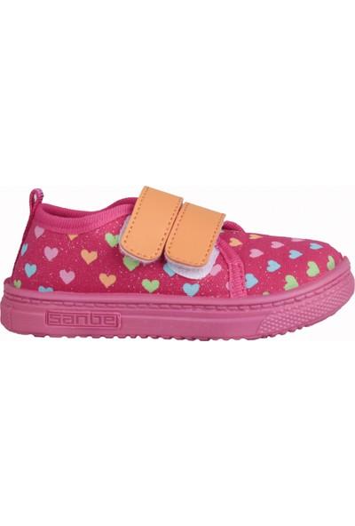 Sanbe 401 R 015 Anatomik Günlük Kız Çocuk Keten Sandalet Ayakkabı