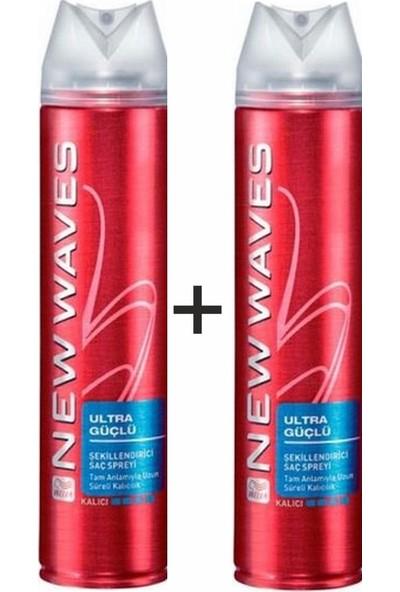 New Wave Saç Spreyi Ultra Güçlü 250ML 2ADET