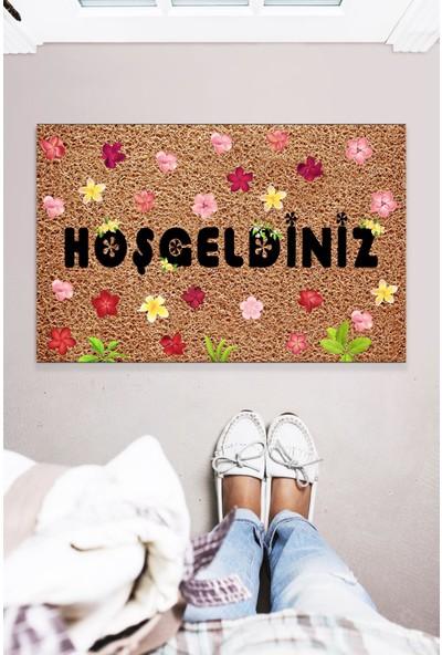 Buket Home Hoşgeldiniz Dekoratif Kapı Önü Paspas