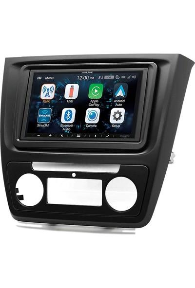 Alpine Skoda Yeti Dijital Klima Carplay Androidauto Multimedya Sistemi