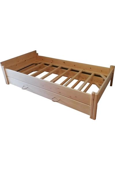 Muny Wood Yavru Yataklı Ahşap Karyola Tek Kişilik Yatak