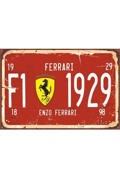 Atc Formula 1 Tabela Tarz Retro Vintage Ahşap Poster 2030043