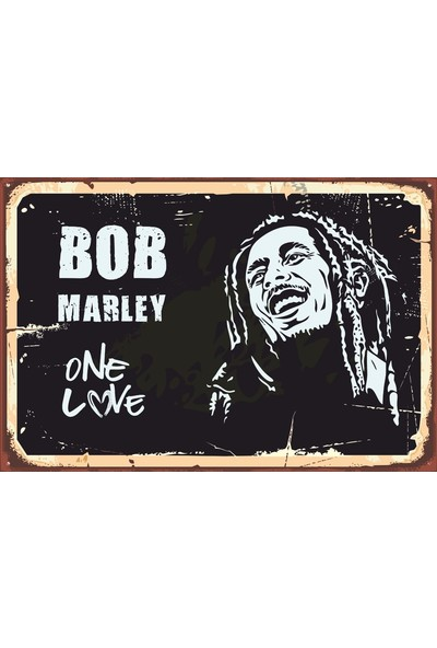 Atc Bob Marley One Love Retro Vintage Ahşap Poster