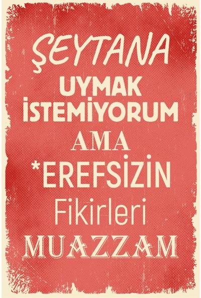 Aldebaran Reklam Duvar Yazıları Ahşap Retro Poster