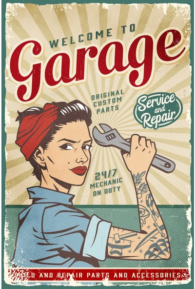 Hayal Poster Welcome To Garage Retro Poster