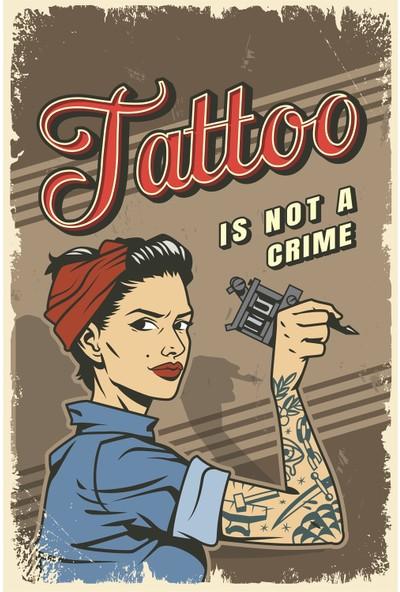 Aldebaran Reklam Tattoo Ahşap Retro Poster