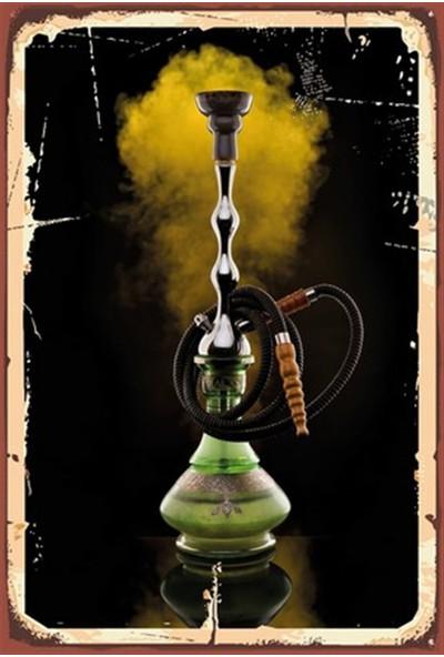Aldebaran Reklam Nargile Ahşap Retro Poster