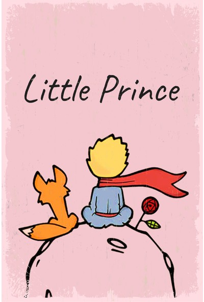 Hayal Poster Küçük Prens Ahşap Retro POSTER005