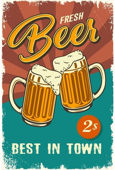 Hayal Poster Fresh Beer Retro Poster