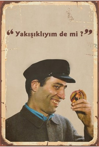 Aldebaran Reklam Kemal Sunal Yeşilçam Ahşap Retro Poster
