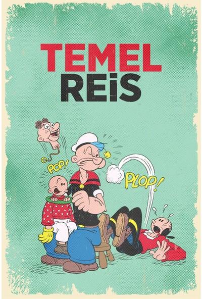 Hayal Poster Temel Reis Retro Ahşap POSTER001