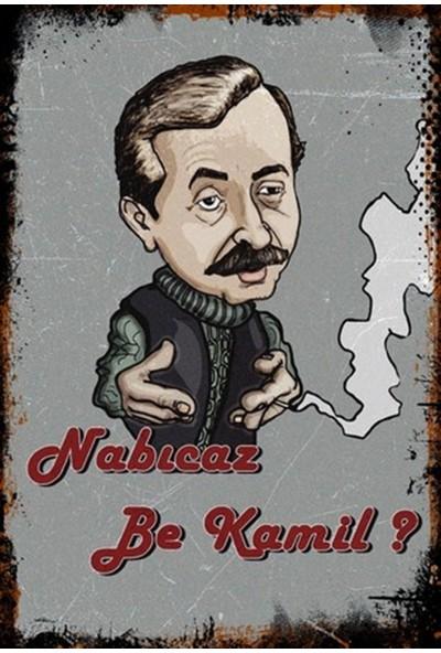Hayal Poster Nabıcaz Be Kamil Ahşap Retro Poster 20X30