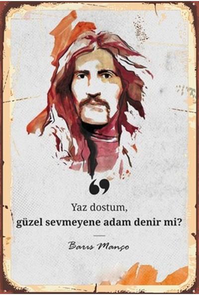 Hayal Poster Barış Manço Ahşap Retro Poster