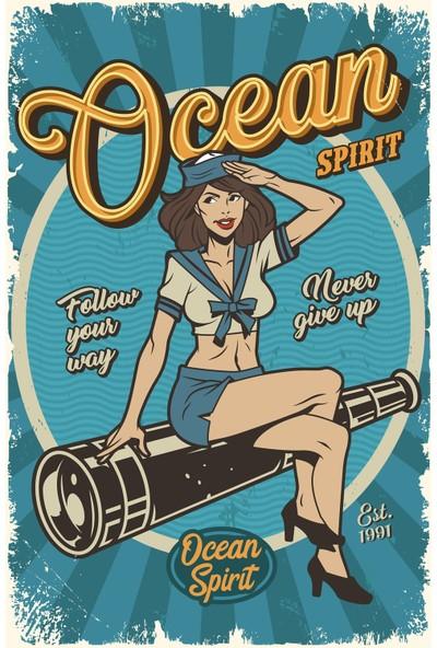 Hayal Poster Ocean Spirıt Retro Ahşap Poster