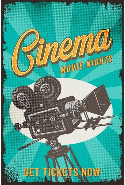 Aldebaran Reklam Retro Cinema Movie Ahşap Poster