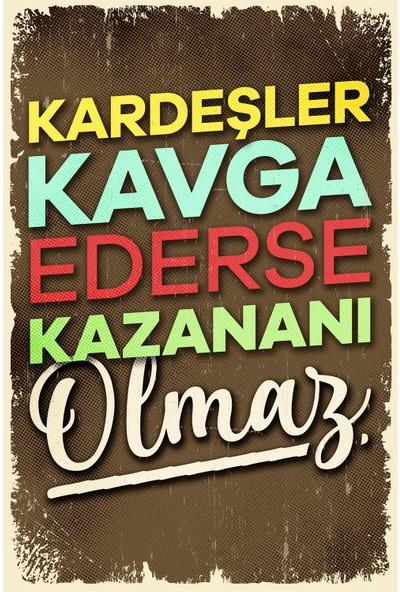 Hayal Poster Kardeşler Duvar Yazıları Retro Poster