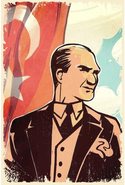 Aldebaran Reklam Atatürk Retro Ahşap POSTER003