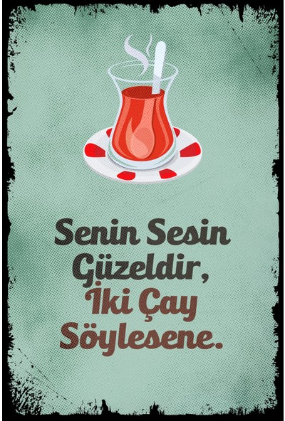 Aldebaran Reklam Senin Sesin Güzeldir Retro Ahşap Poster
