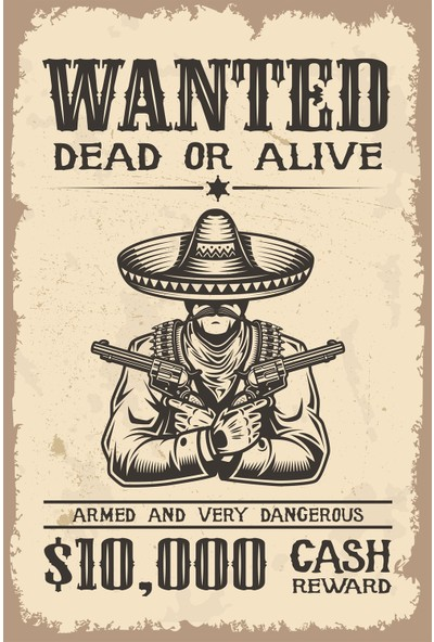 Hayal Poster Wanted Dead Or Alıve