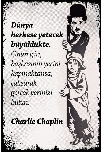 Hayal Poster Dünya Herkese Yetecek Charlie Chaplin