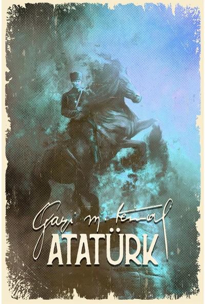Aldebaran Reklam Atatürk Retro Ahşap POSTER001