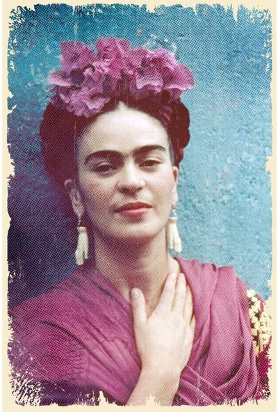 Hayal Poster Frida Kahlo Ahşap Poster 002