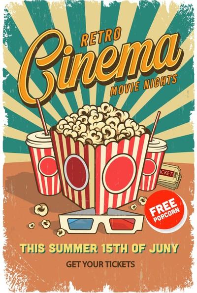 Hayal Poster Retro Cinema Ahşap Poster