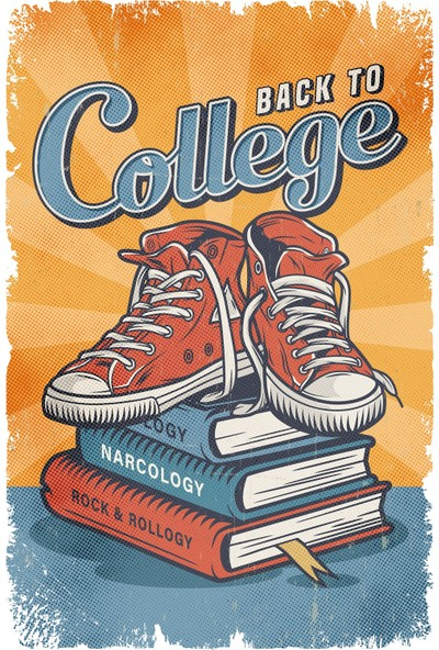 Aldebaran Reklam Back To College Retro Ahşap Poster
