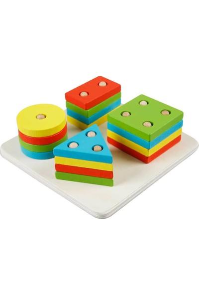 Woody Ahşap Bultak Geometrik Şekil Yerleştirme