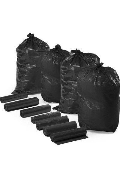 Hoşgör Plastik Çöp Torbası Poşeti Rulo 72X95 Battal (Koli:10 RULO/100 Lü)