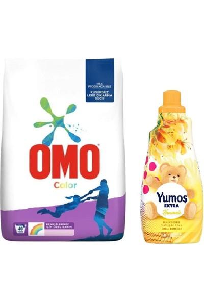 Omo Color Toz Deterjan 5,5 kg + Yumos Extra Yumusatıcı 1440 ml Hanımelı