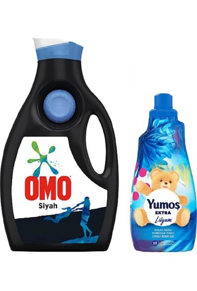 Omo Sıvı 30 Yıkama 1950 ml + Yumos Ext Yumusatıcı 1440 ml Lılyum