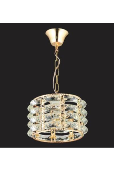Luence Rx2 Kristal Tekli Sarkıt Gold Orta
