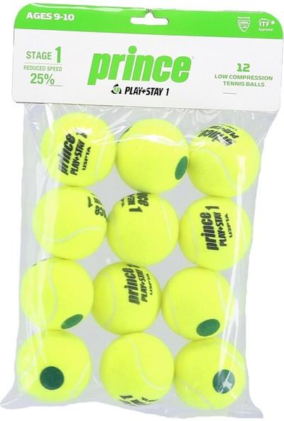 Prince Play+Stay 12 Adet Yeşil Noktalı Çocuk Tenis Topu 7G337000080