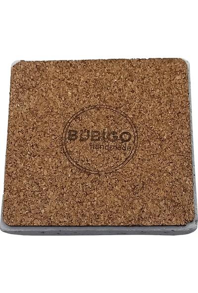 Bubigo Beton Bardak Altlığı | Kare Naturel | 4'lü