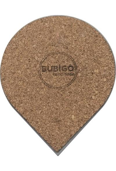 Bubigo Beton Bardak Altlığı | Damla Çizgili | 4'lü