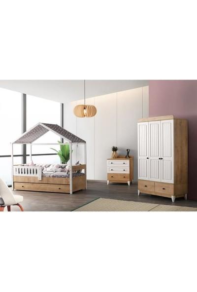 Aymini Rosse Montessori Çocuk-Genç Odası Takımı 3k 90X190