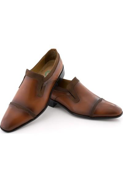 Özcoşkun Taba Katlamalı Nubuk Şeritli Klasik Erkek Ayakkabı