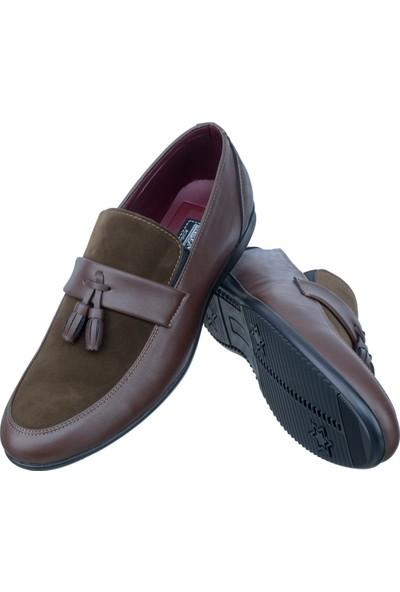 Slender Kahverengi Püsküllü Klasik Erkek Ayakkabı