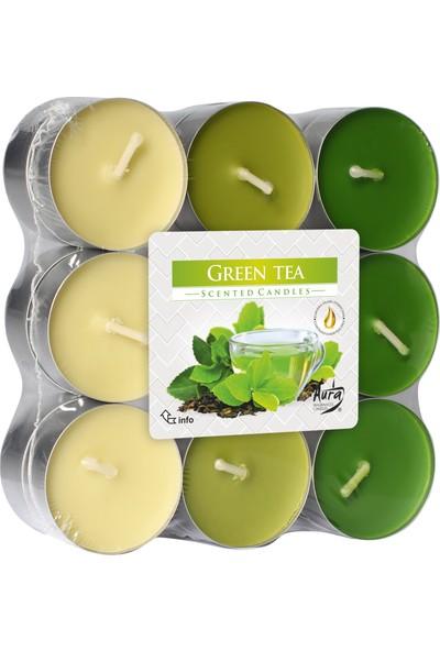 Aura Yeşil Çay Kokulu 18 Li Tealight Mum