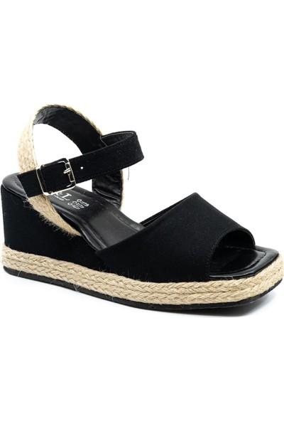 Cudo 017 Kadın Dolgu Taban Hasır Sandalet