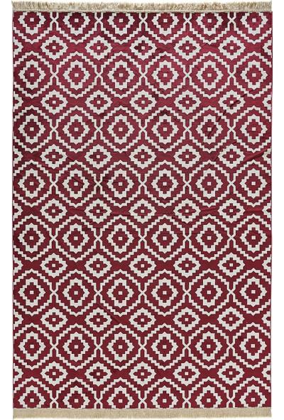 Enza Home Soho Morocco Modern Özel Tasarım Dokuma Halı - Kırmızı 160 x 230 cm