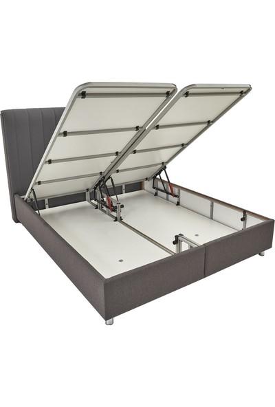 Yataş Bedding Somni Baza Başlık Seti (Tek Kişilik - 90X190 cm Kumaş - Antrasit)
