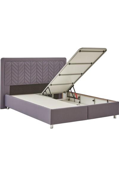 Yataş Bedding Somni - Valery Baza Başlık Seti (Tek Kişilik - 90X190 cm Kumaş - Marin)