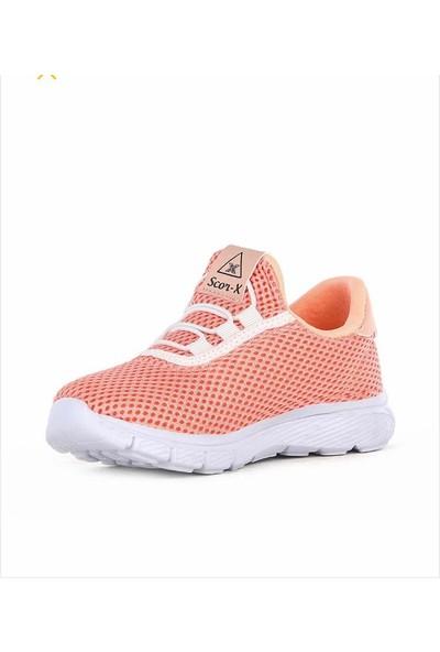 Scorx Pudra Kız Çocuk Anorak Poli Taban Hafif Spor Ayakkabı